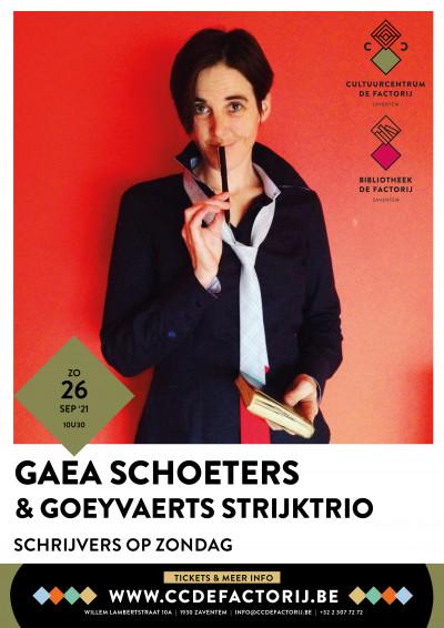 Schrijvers op zondag, literair ontbijt 26/09 - Gaea Schoeters